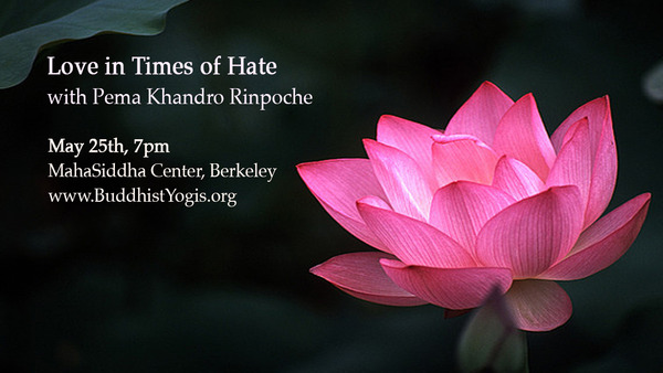 2018FBB_Love in Times of Hate_PemaKhandro_BuddhistYogis